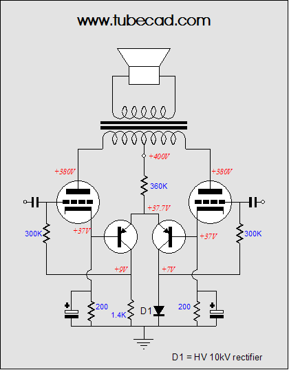 amplifier auto bias circuits  alan dower blumlein u0026 39 s garter circuit