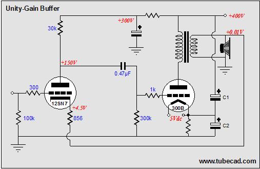 Tube-based Buffer amplifier