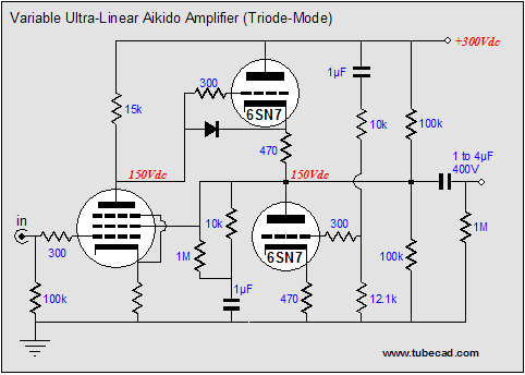 concentric potentiometer wiring diagram for ultra linear aikido amplifers