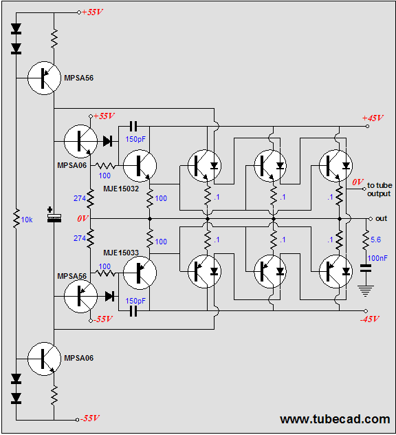 implementing schematics and a thermaltrak hybrid amplifer