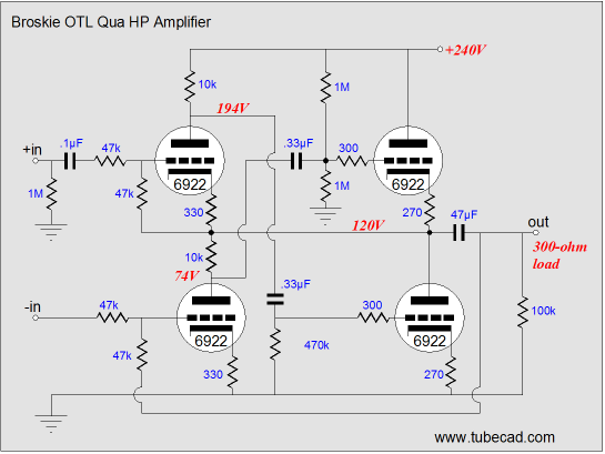 isolation transformer schematic  | tubecad.com