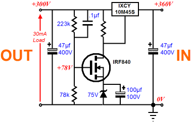 high and low voltage feedforward shunt regulators rh tubecad com high current voltage regulator schematic high current voltage regulator schematic