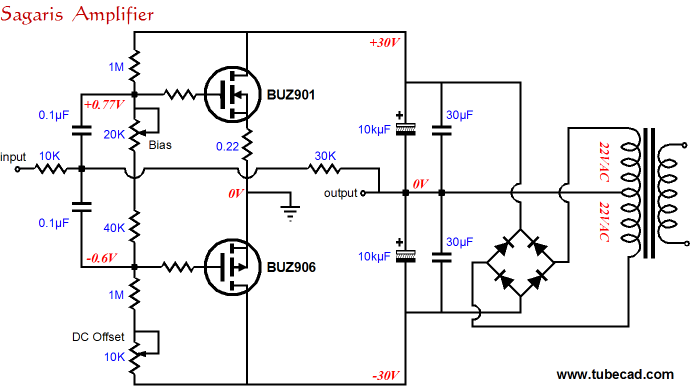 power booster amplifiers rh tubecad com booster amplifier circuit diagram Transformer Schematic Diagram