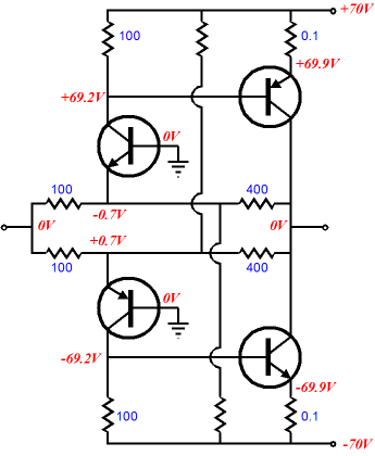 Power booster amplifiers actually the more i look at the schematic the more i would prefer to use mosfets as output devices the grounded base amplifier will not provide any asfbconference2016 Gallery