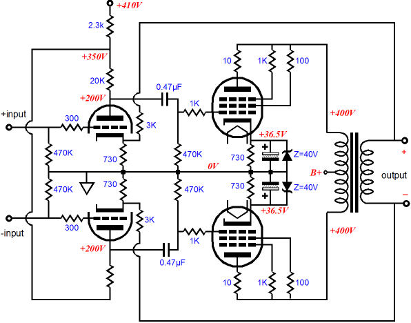 6l6 4 likewise El84 rebuild 2 ckt likewise KT120 Push Pull  lifier Schematic together with 6DJ8 SRPP Tube Pre lifier besides Index php. on el84 schematic