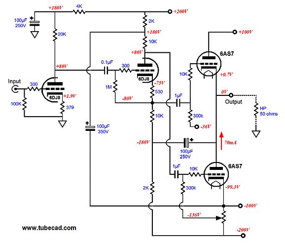 A B 6sa7 Tube Amplifier Schematics Free Download Wiring