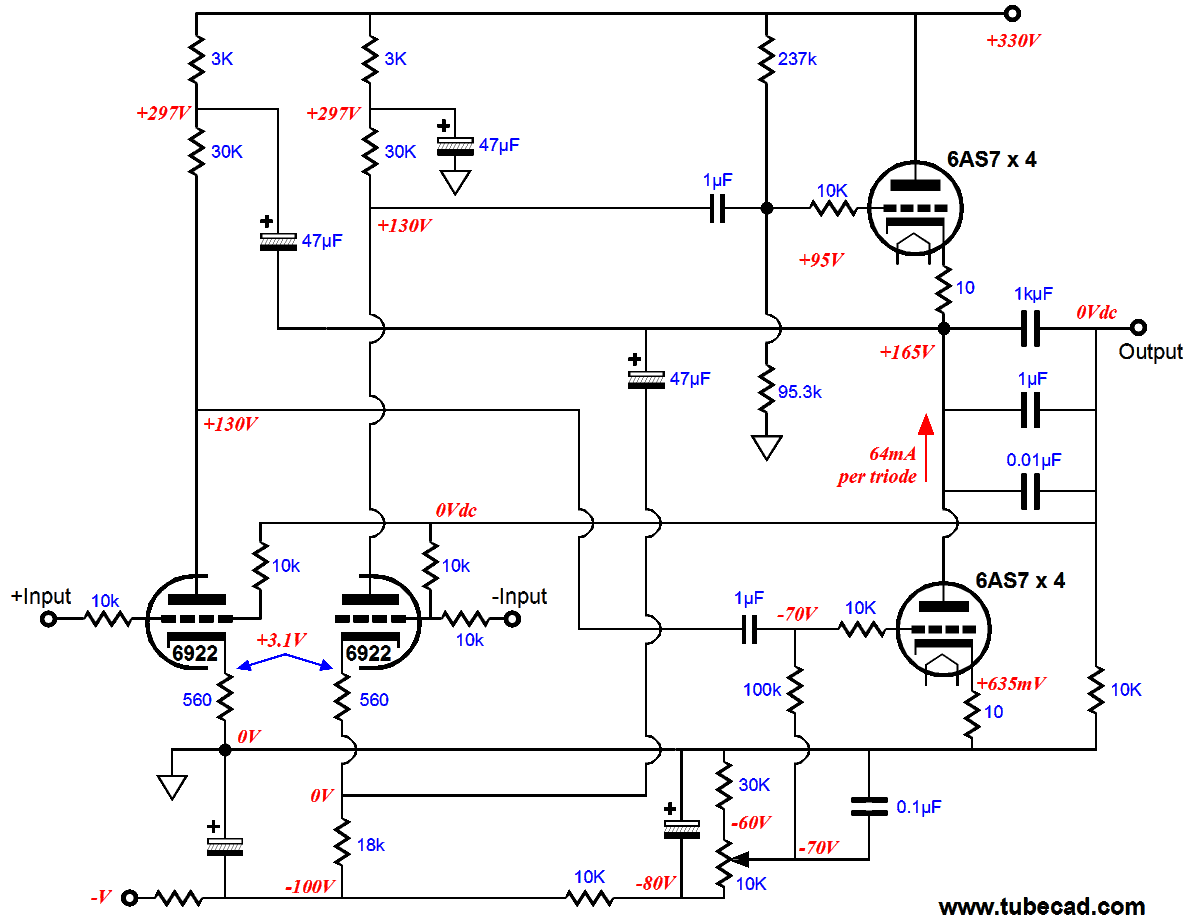 Class G Circlotrons Amplifier Circuit Diagram Click On The Schematic For Enlargement