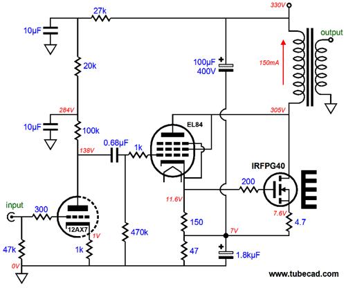 Усилитель для наушников на 6ф5п схема