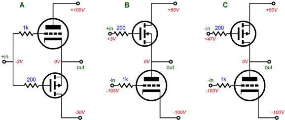 hybrid amplifiers  u0026 mosfets in series