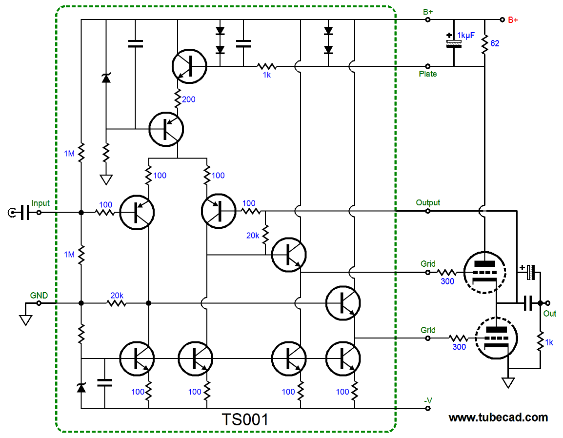 Even More Mc Pre Preamps Using Circuit Boards The Designer Created Two Chic Board Assumption Is That Class Ab Would Be Used Thus Diodes In Series Signal Clipper At Top Between B And Plate Pins
