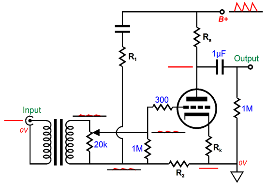 balanced audio rocks signal transformers can also replace coupling capacitors the following circuit uses both an input and output signal transformer