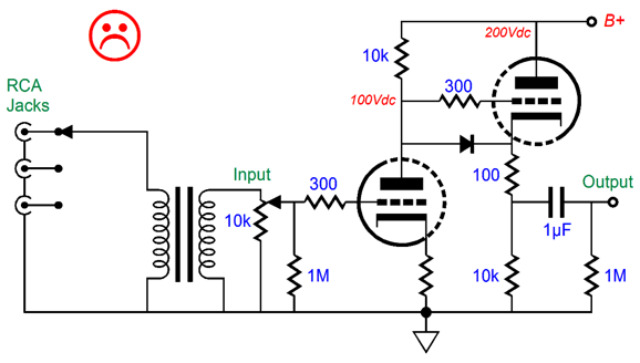 balanced audio rocks in the above circuit only unbalanced input signals can be accepted no balanced signals in fact the signal transformer loses its reason behind its