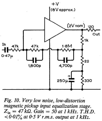 Ultra Low Noise Magnetic Phono Preamp Circuit Schematic Diagram