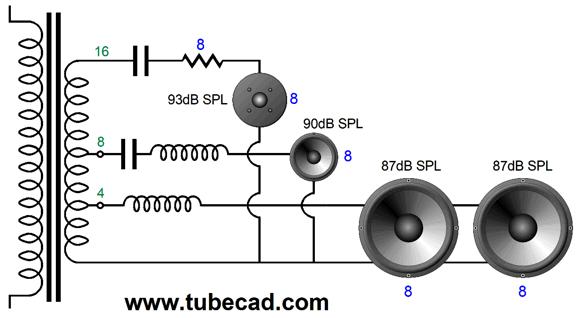 b-wiring part two wiring 8 ohm 3 way speaker #8