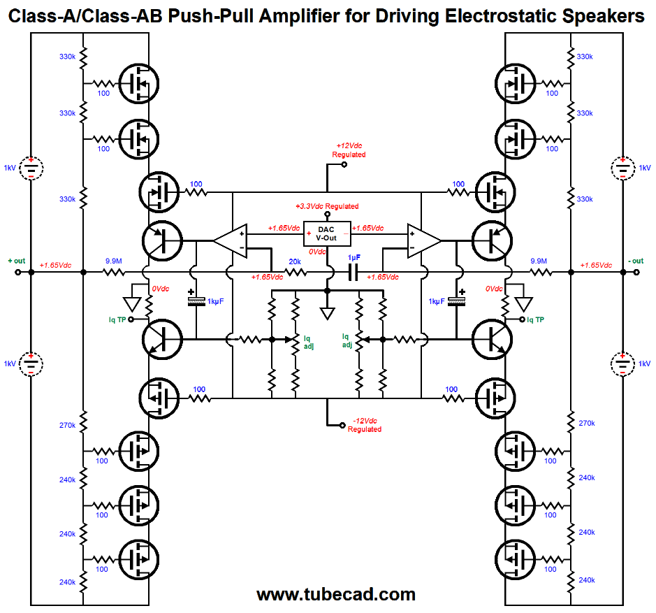 Digital Electrostatic Loudspeakers More Direct Drive Amplifiers Triac Circuit Http Wwwfaszlcom Triacshtm Click On Schematic To See Enlargement