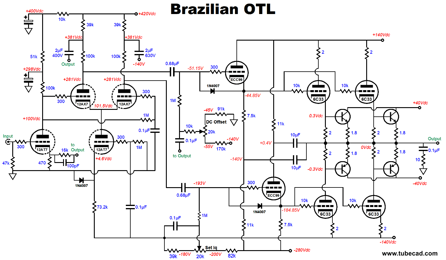 Brazilian Otl Cheapest Signal Cleaner Circuit Click On Schematic To See Enlargement