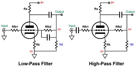 anode follower circuits
